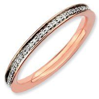 0.232ct Silver Stackable & Diamonds Pink Ring. Sizes 5-10 Available Jewelry Pot. $116.99. 100% Satisfaction Guarantee. Questions? Call 866-923-4446; 30 Day Money Back Guarantee; All Genuine Diamonds, Gemstones, Materials, and Precious Metals; Fabulous Promotions and Discounts!; Your item will be shipped the same or next weekday!
