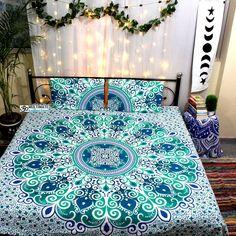 Luxury Bedding Sets On Sale Refferal: 5123429258 Bedding And Curtain Sets, Cheap Bedding Sets, Cheap Bed Sheets, Queen Bedding Sets, Luxury Bedding Sets, Green Duvet Covers, Bed Duvet Covers, Cheap Room Decor, Mandala Duvet Cover