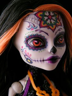 i want my face painted like this, Skelita repaint, Monster High