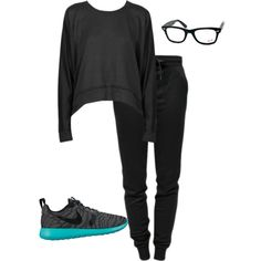 A fashion look from August 2015 featuring T By Alexander Wang sweatshirts, T By Alexander Wang activewear pants and NIKE athletic shoes. Browse and shop relate…