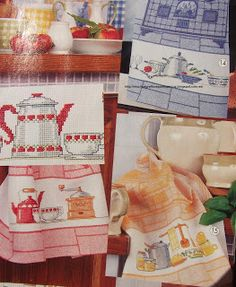 GRAFICOS PUNTO DE CRUZ GRATIS : TOALLAS,PAÑOS COCINA(41) Cross Stitching, Cross Stitch Embroidery, Cross Stitch Kitchen, Needlepoint, I Am Awesome, Banner, Sewing, Blog, Crafts