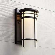 Habitat collection 16 high indoor outdoor wall light lighting led outdoor wall lights outdoor walls outdoor lighting exterior lighting clemson porches euro house ideas steel workwithnaturefo