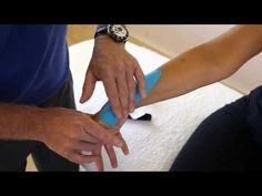 How to apply Kinesiology taping - Tendinitis of Wrist and forearm - YouTube
