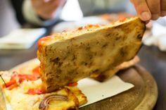 Thin, Crusty Pizza Bases, La Follia, Rome, Italy