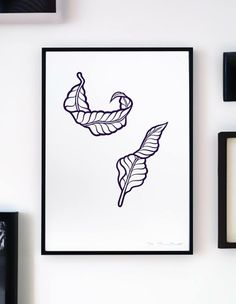 """""""Float Free"""" is inspired by leafs and feathers, all collected while travelling in Asia. Hand sketched and then digitized... This poster is produced as a limited edition ciclée art print - only 100 in the series - all signed and numbered. Printed on IFA24 - Decor Smooth Art 210gsm, A3 (29.7 x 42cm) - sold without the frame."""