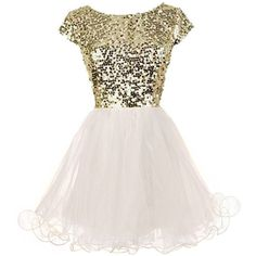 Prom Song Dress ($120) ❤ liked on Polyvore featuring dresses, glitter prom dresses, cap sleeve sequin dress, pink sequin dress, sequin cocktail dresses and ballerina dresses