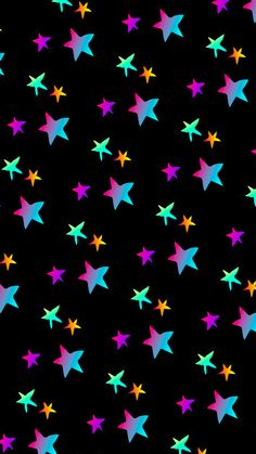 By Artist Unknown. Star Wallpaper, Wallpaper For Your Phone, Love Wallpaper, Colorful Wallpaper, Cellphone Wallpaper, Screen Wallpaper, Mobile Wallpaper, Iphone Wallpaper, Cute Backgrounds