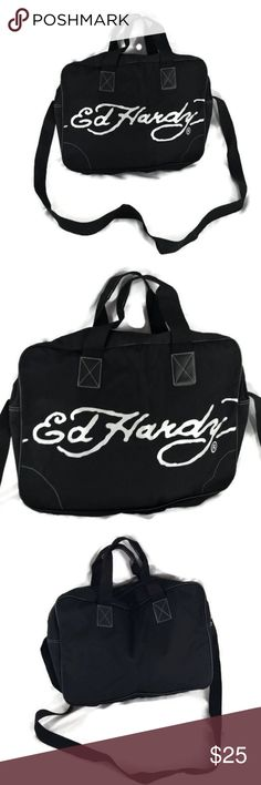 ED HARDY Weekender Tote   Black Beach Bag 19X14X4 New ED HARDY Bag. Great  looking tote. Feels pretty strong and rugged, almost like a canvas feel. 5b54e285b6