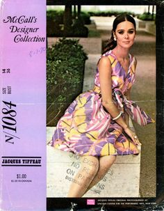 Vintage Sewing Pattern  1969 Misses Designer by thehalfhouse