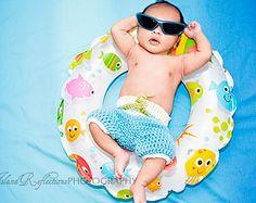 Newborn Surf Shorts Photo Prop/ Newborn Board Shorts/ Summer Newborn Prop/ Baby Boy Photo Prop