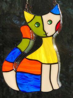 Katze mit Grünen Augen von Handwerkskunst aus Glas auf DaWanda.com