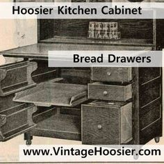 Most Hoosier Cabinets Had A Bread Drawer. This Was A Metal Box With A  Sliding