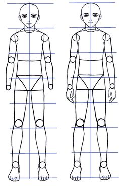 How To Draw Manga Bodies In Three Quarter 3 4 View Drawing