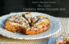 Cranberry White Chocolate Crock Pot Cookie Bars | Weight Watchers Recipes