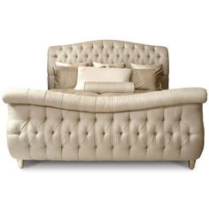 Carmela Tufted Sleigh Bed