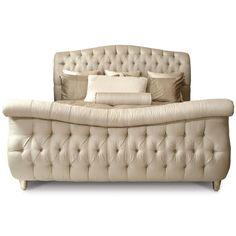 Carmela Tufted Sleigh Bed