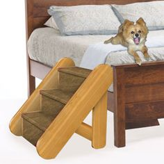"Small Pet Stairs Pattern  The little guys can come and go as they please without having to bother you for a lift. 19""H x 17""W x 19""D.  Pattern #2463  $12.95   ( crafting, crafts, woodcraft, pattern, woodworking, yard art, furniture ) Pattern by Sherwood Creations"
