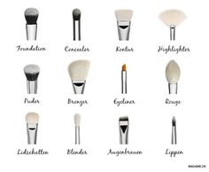 Make-up brush: Which tool is for what? – DelmarCrabtre-quizzes- videos- fashion- lifestyle Make-up brush: Which tool is for what? Make-up brush: Which tool is for what? Makeup Guide, Diy Makeup, Makeup Hacks, Makeup Tools, Makeup Geek, Face Makeup, Makeup Tutorials, Eyeliner Makeup, Makeup Trends