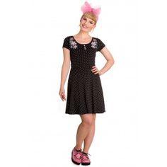 Robe Rockabilly Lolita Rock Pois Blossom