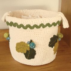 O.F. Patterns and Tutorials: Crocheted Basket
