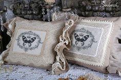 Подушки декоративные в винтажном стиле. - бежевый,винтажный стиль,подарок ручной работы