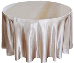 Whole Champagne Round Satin Tablecloths 132 Inch Table Cover Linens Wedding Tablecloth Linen