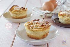 TORTINE CREMOSE ALLE MELE Cake Cookies, Cupcakes, Plum Cake, Beautiful Fruits, Finger Foods, Italian Recipes, Muffins, Menu, Sweet Treats
