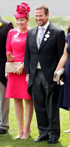 Autumn stood out in a fuchsia outfit with beige accessories at Royal Ascot in Fuchsia Outfit, Princesa Anne, Autumn Phillips, Peter Phillips, Royal Christmas, Kate And Meghan, Evolution Of Fashion, Royal Look, Royal Princess