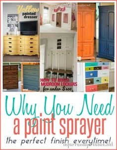 Painted Furniture | I love using my paint sprayer because it gives an amazing finish in record time. Here's the sprayer I love and a little trick for easier cleaning!