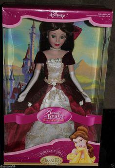 Disney Beauty and the Beast Belle Brass Key Porcelain Doll $29. Ship $8