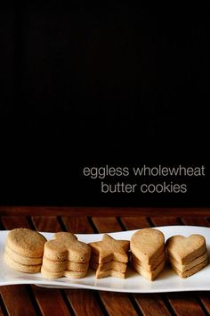 eggless butter cookies recipe with step by step photos. these cookies have the buttery taste and flavor and are crisp. crisp butter cookies made from whole wheat flour. Brownie Mix Desserts, Eggless Desserts, Cake Mix Cookie Recipes, Eggless Recipes, Eggless Baking, Cake Mix Cookies, Yummy Cookies, Fun Desserts, Chip Cookies