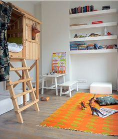 fort bed--cute as a bed, but cute in a playroom as well...