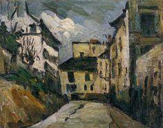 Rue Des Saules, Montmartre Artwork By Paul Cezanne Oil Painting & Art Prints On Canvas For Sale Cezanne Art, Paul Cezanne Paintings, Aix En Provence, Monet, Art Gallery, Great Paintings, Renoir, Land Art, French Artists