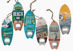 Flesopener voor de surfers onder ons. De 6 modellen worden assortie geleverd. 17,5 cm.