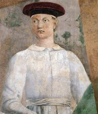 Piero della Francesca painted a self portrait in The Discovery and Proof of the True Cross