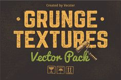 Grunge Textures Vector Pack by Vecster on @creativemarket