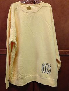 Comfort colors sweatshirt with 6 heat press get yours at for Dress shirt monogram placement
