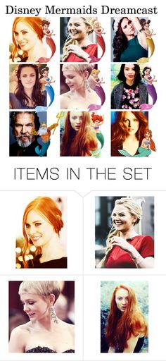 """""""// Disney Mermaids Dreamcast"""" by disney-parxdise ❤ liked on Polyvore featuring art"""