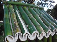 Bamboo Poles Rain Gutter Roof Tile Project - Homesteading - The Homestead Surve .Bamboo Poles Rain Gutter Roof Tile Project - Homesteading - The Homestead Survival .ComBamboo roof modernBamboo roof Modern is part of Bamboo Bamboo Roof, Bamboo Poles, Bamboo Art, Bamboo Crafts, Bamboo Garden, Bamboo Fence, Bamboo House Design, Bamboo Building, Bamboo Structure
