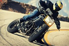 Street Tracker http://goodhal.blogspot.com/2013/10/man-and-machine-214.html #ManAndMachine #Motorcycle #riding | caferacerpasion.com