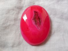Beautiful Red geode crystal in midlle by Gemstonebeadsfinding