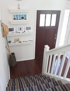 Dash and Albert bound rug for stairs....connecting wood floors! Option?