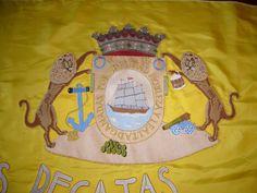 Escudo bordado para bandera de regatas