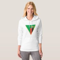 #Zambia Flag Triangle Womens Hoodie - #country gifts style diy gift ideas
