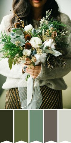 Naturally Simple Bridal Bouquet // www.onefabday.com