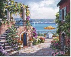 ,Tuscan terrace