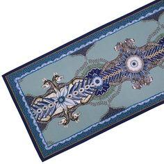 Ngala Trading Co. - Bush Bandits Frost Table Runner, Blue/Multi | One Kings Lane Multi, Ardmore, Vibrant, Table, Blue, Inspiration, Table Runners