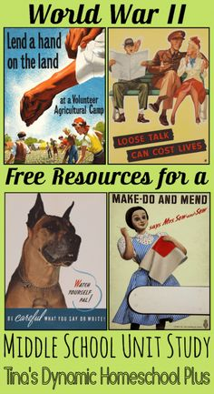 War War II Free Resources For a Middle School Unit Study