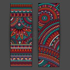 Baby Names Discover Abstract vector ethnic pattern cards set - Millions of Creative Stock Photos Vectors Videos and Music Files For Your Inspiration and Projects. Mandala Art Lesson, Mandala Artwork, Mandala Drawing, Tribal Pattern Art, Tribal Art, Madhubani Art, Madhubani Painting, Mandala Design, Afrique Art