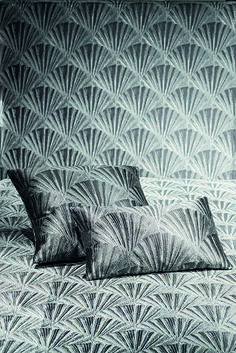 Havana - This striking fabric draws inspiration from the natural pattern found on seashells. The pattern is replicated on the surface of the fabric with subtle color contrasts, creating shine and a three dimensional vertical cannette. Available in 4 color ways